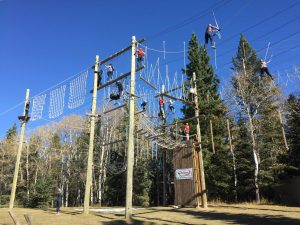 High ropes Bowden,AB